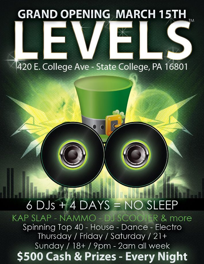 levels nightclub state college