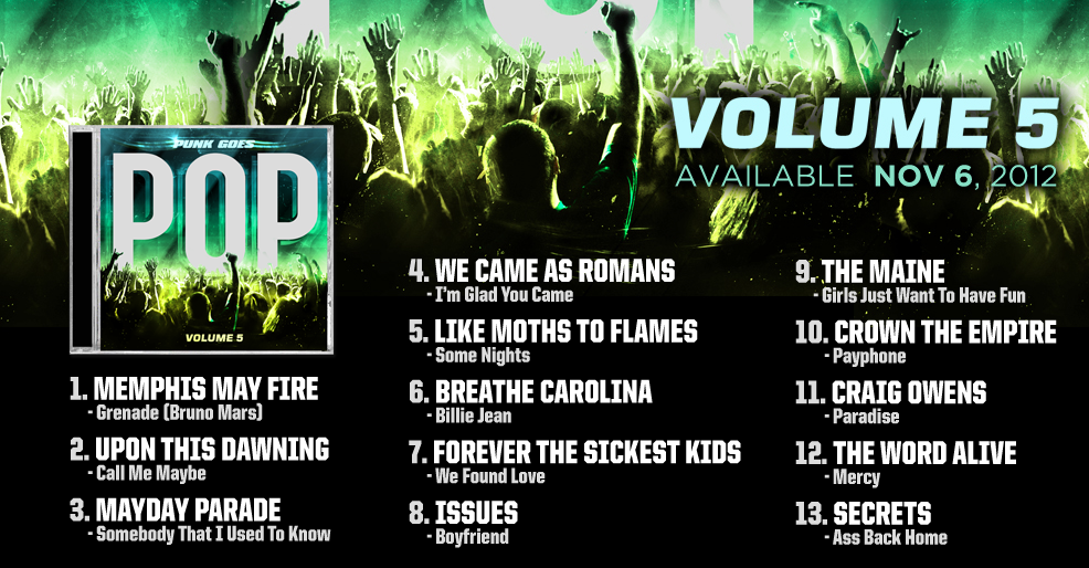 Punk Goes Pop Vol. 5 tracklist announced   State In The Real - Penn State Music Scene