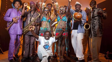Oluseun Anikulapo (Seun) Kuti, the youngest son of legendary Afrobeat pioneer Fela Kuti, comes with his father's band, Egypt 80, to the State Theatre stage on Tuesday, September 9, 2014,...